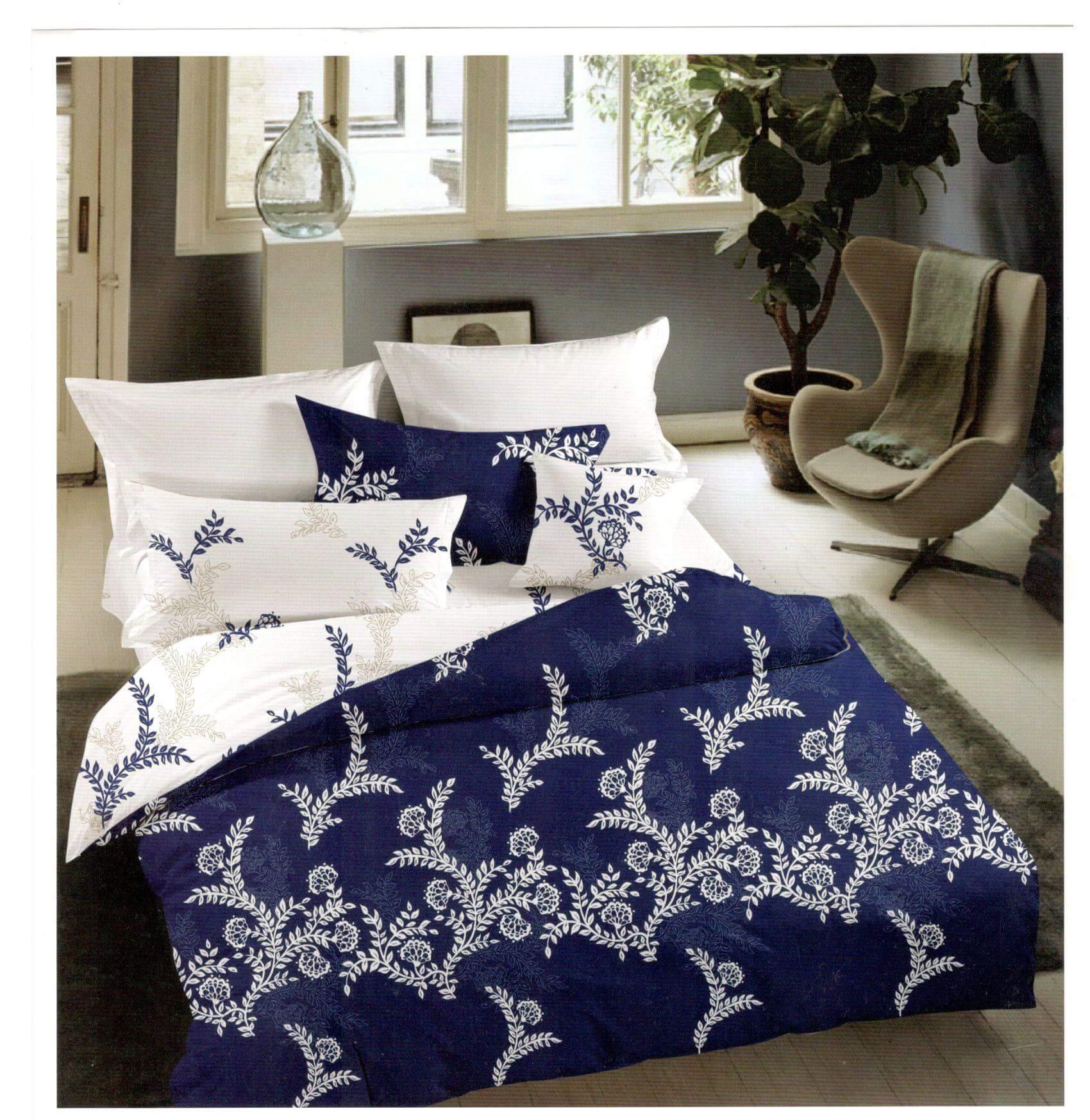 Lenjerie de pat moderna din bumbac satinat S1