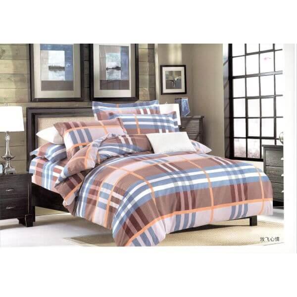 Lenjerie de pat 2 persoane din bumbac si fibre fine
