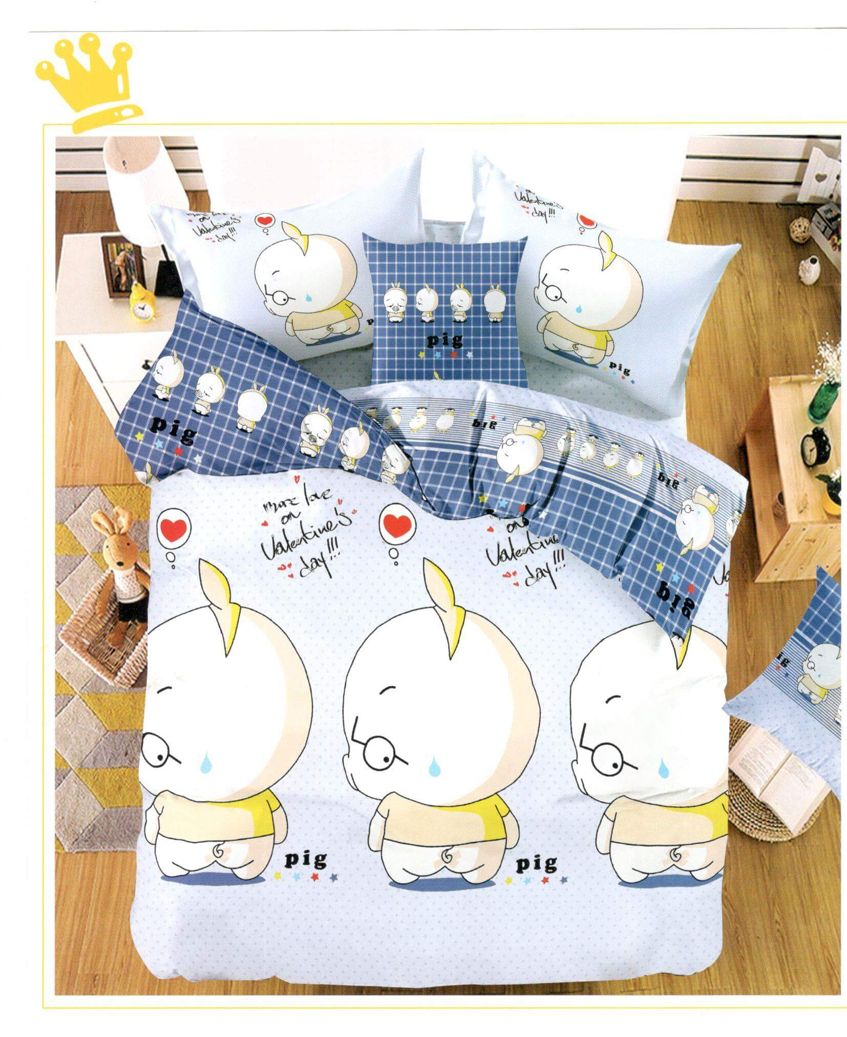 Lenjerie de pat din bumbac satinat de lux K002