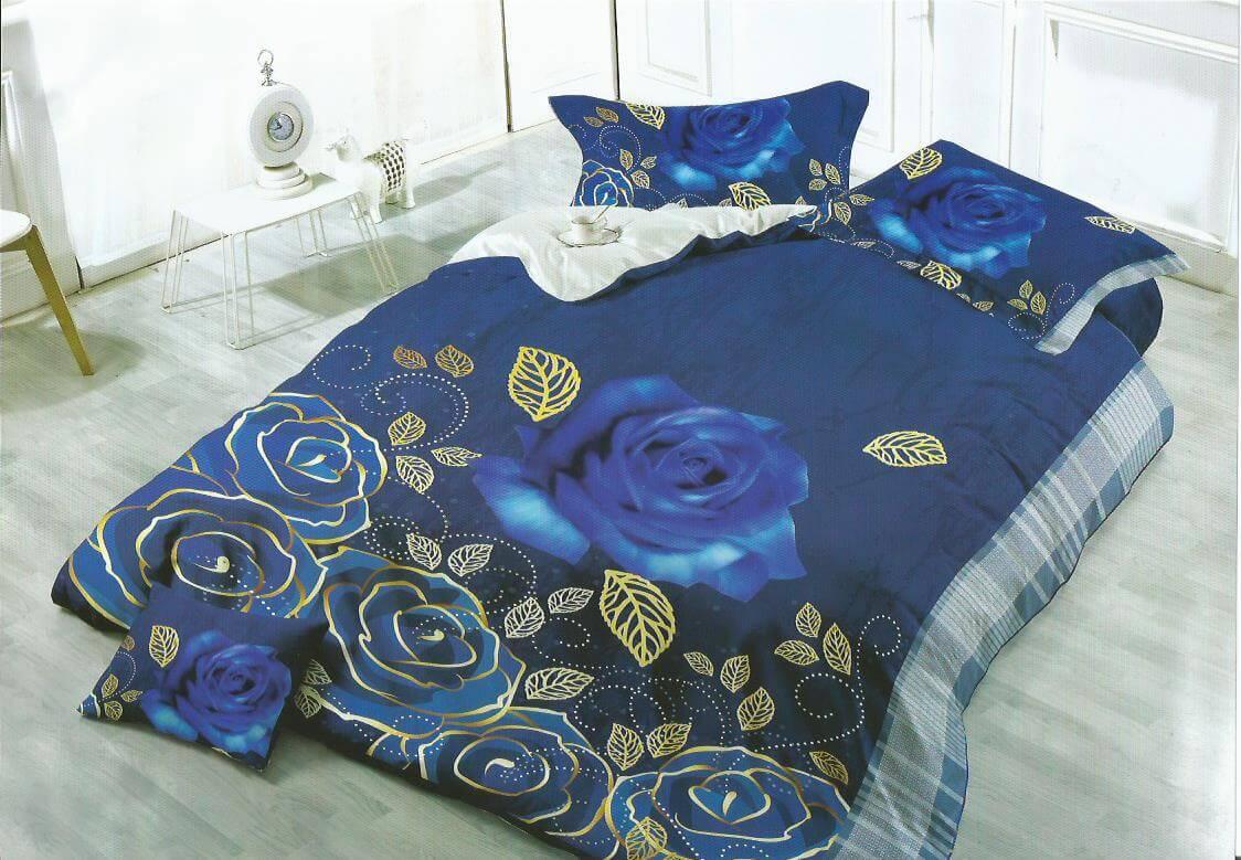 Lenjerie cu trandafiri albastri
