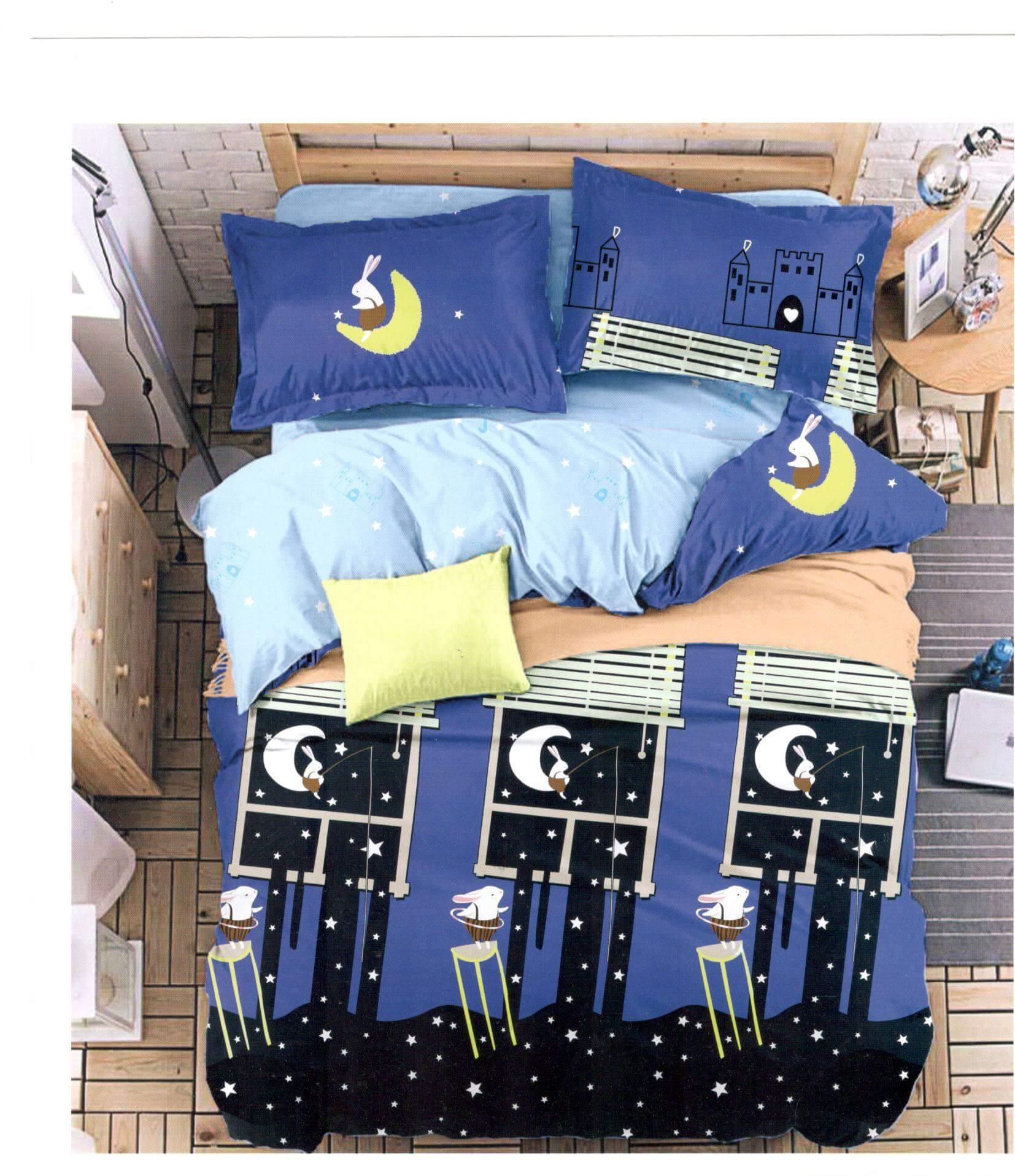 Lenjerie de pat din bumbac satinat de lux S088