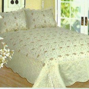 Cuvertura de pat din bumbac satinat