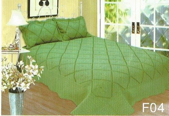 Cuvertura de pat verde in carouri