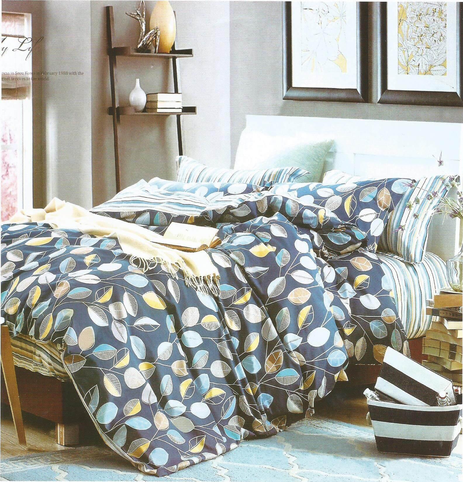 Lenjerie de pat cu model frunze