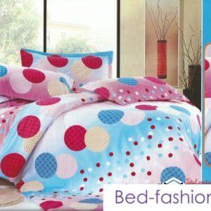 Lenjerie pat 2 persoane, buline colorate
