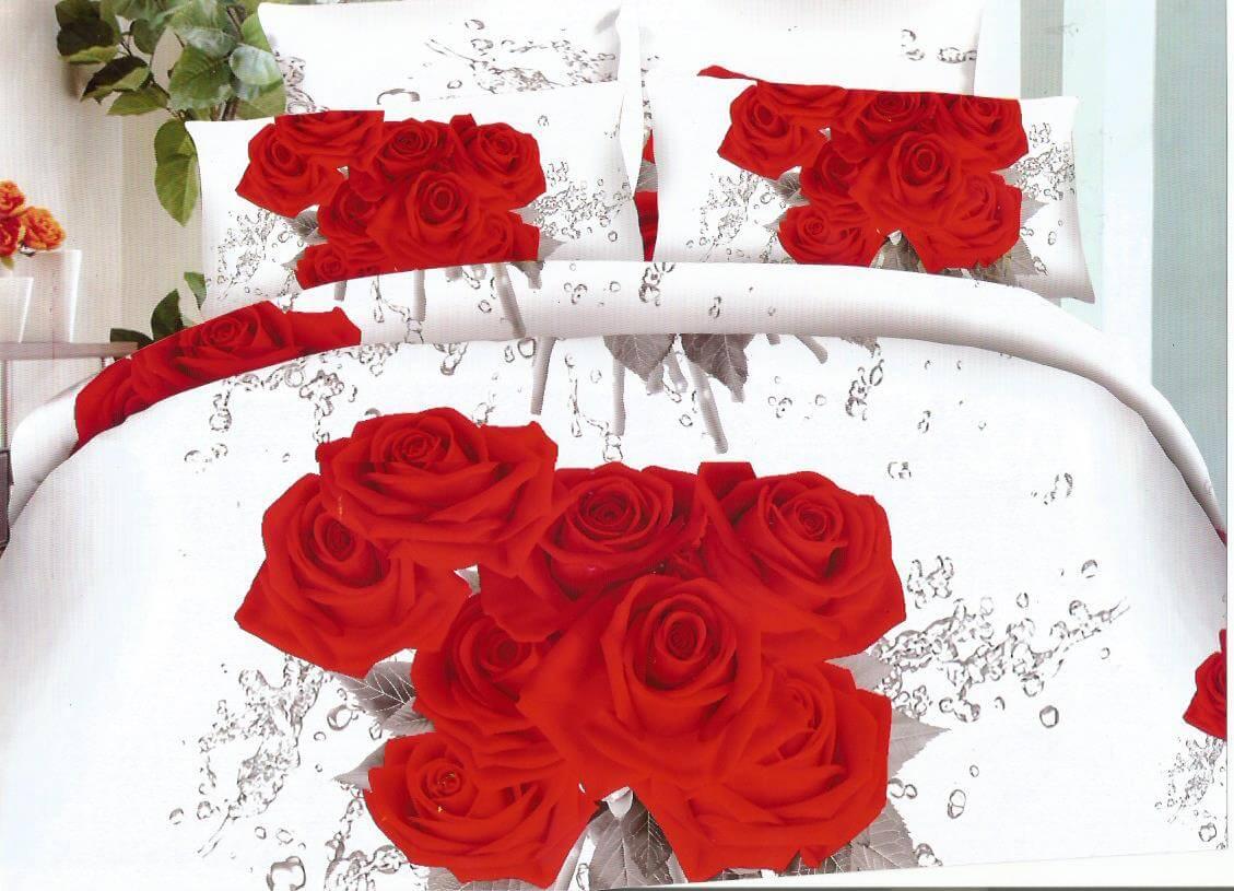 Lenjerie buchet trandafiri