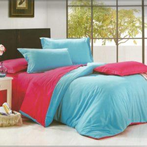 Lenjerie de pat din bumbac cu finet in doua culori