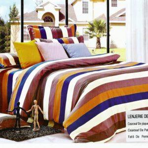 Lenjerie de pat moderna din bumbac satinat