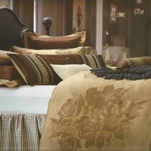 Lenjerie pentru pat Jacquard cu insertii de satin