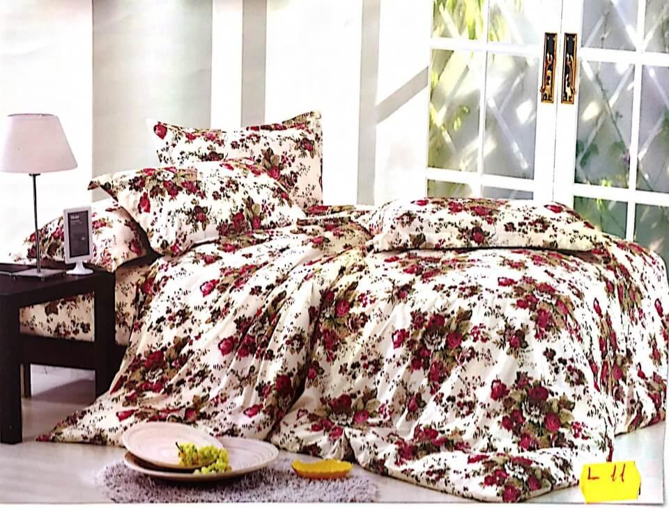 Lenjerie de pat moderna cu model floral