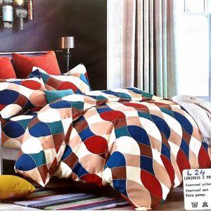 Lenjerie de pat multicolora pentru doua persoane