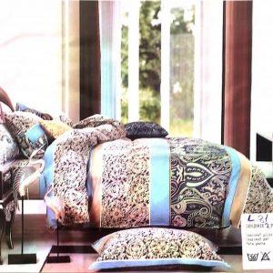 Lenjerie de pat eleganta cu model multicolor