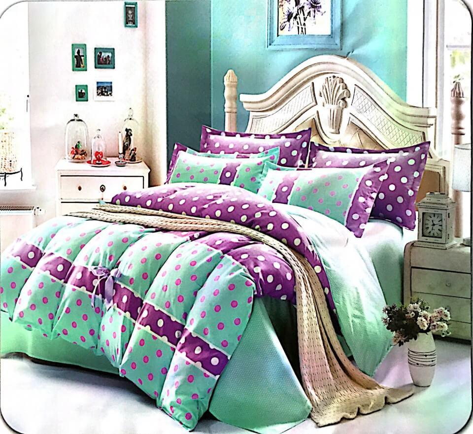 Lenjerie de pat cu buline