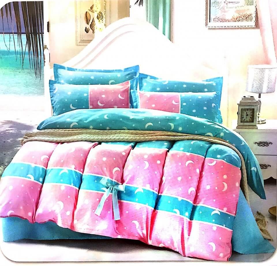 Lenjerie pat din bumbac si fibre pentru 2 persoane