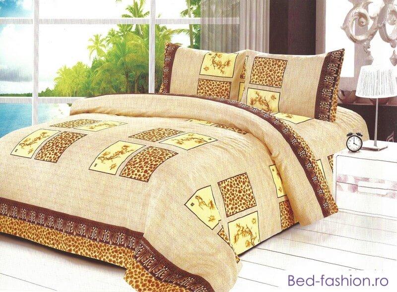 Lenjerie de pat cu inchidere tip fermoar