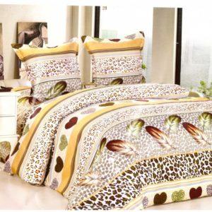 Lenjerie de pat verde din bumbac