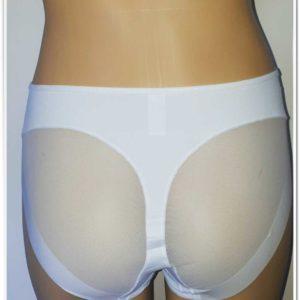 Chilot modelator alb cu efect tanga